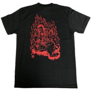 画像1: 不動明王速乾Tシャツ(黒)